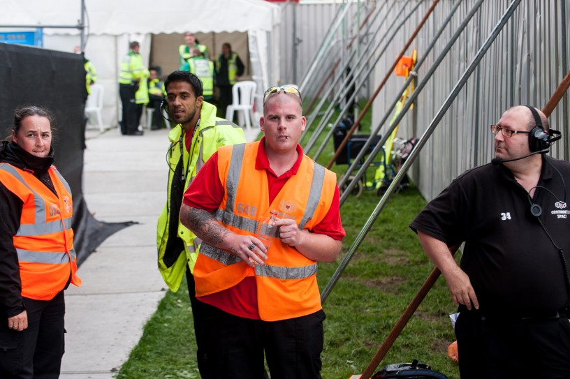 The lovely photographers pit security team_IAN TAYLOR